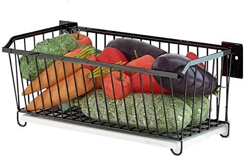 Keuken opbergrek Fruit en groenten vliegtuigen JT roestvrijstalen keuken badkamer plank No Need To Punch muur bevestigde Storage Basket Supplies sterk en stevig Fruit en groenten vliegtuigen