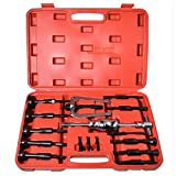 Supercrazy 16PCS Blind Hole Pilot Bearing Internal Extractor Puller W/Slide Hammer Removal Tool Kit SF0030