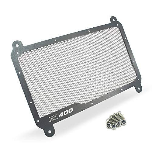QIDIAN-Protector de Cubierta de Parrilla de protección de radiador de Aluminio para Motocicleta Apto para Cubiertas de radiador Z400 Z 400 (Black)
