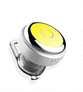 HomJo Mini Headphone Wireless Bluethooth Earphon Voice Control Earbud Universal In-ear Sports Stereo Noise Reduction Headset with Mic for Smartphones/Ipad , yellow