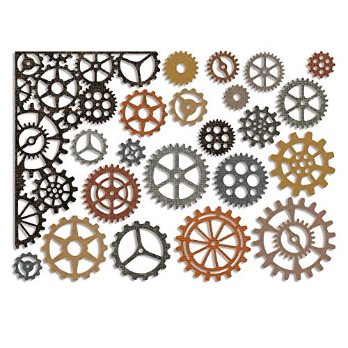 Sizzix, Multi Color, Thinlits Die Set 661184, Gearhead by Tim Holtz, 22 Pack, One Size