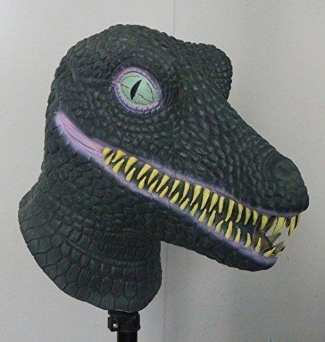 The Rubber Plantation TM 619219291415 Masque de dinosaure Tyrannosaure Tête complète en latex Accessoire de costume d'Halloween Unisexe Adulte Taille unique