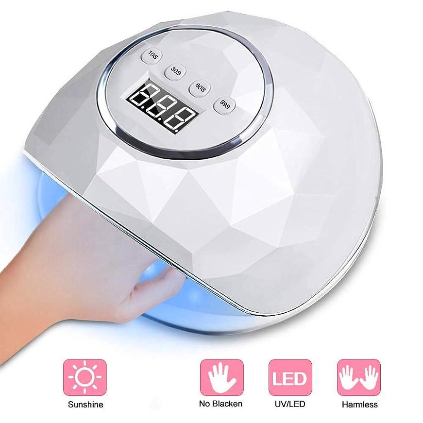 ヒープデッキお気に入り紫外線ジェルネイル光線療法ランプ72Wスマート誘導マニキュアランプマニキュアマシンでジェルネイルポリッシュキット