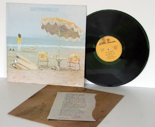 NEIL YOUNG on the beach Umbrella printed on inside on sleeve.Top copy. First french pressing.. 1974.