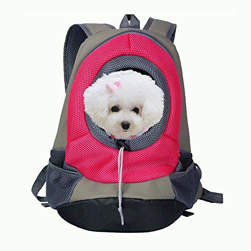 Crazysell vettore portatile Pet anteriore con mesh Pup Pack/Head out design/spalle doppie cinghie tuta Pet Dog Carrier bag zaino per cani fino a 5kilogram per esterni viaggi escursioni