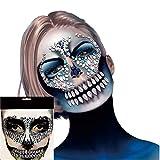 DEALBUHK JIAXIAOYAN 1 pieza Festival Face Jewel Rhinestone con gema cráneo Dientes Pegatina para Car...