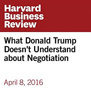What Donald Trump Doesn't Understand about Negotiation audiobook cover art