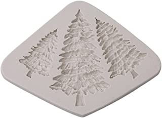 HS Silicone 3D Christmas Tree Shape Fondant Cake Mold Candy Chocolate Sculpting Tools