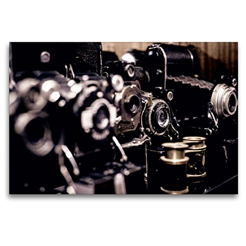 CALVENDO Renate Bleicher - Lienzo Textil (120 x 80 cm, Formato Horizontal, colección de cámaras de Fotos históricas, impresión en Lienzo)