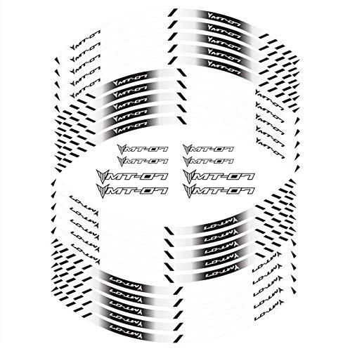 Cinta adhesiva creativa reflectante para llantas de moto estilo de neumático, para MT-07 MT 07