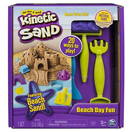 Kinetic Sand Strandkul set med 340 g sand och tillbehör för inomhussandspel