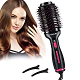 Forusi Hair Dryer Brush,Hot Air Brush,Hair Dryer & Volumizer, 3-in-1 Electric Air Hair Brush,Curler and Straightener for All Hair Types