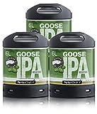Pack 3 fûts de 6 litres - Compatibles avec la tireuse Perfectdraft - 15 euros de consigne INCLUS (Goose Island IPA)