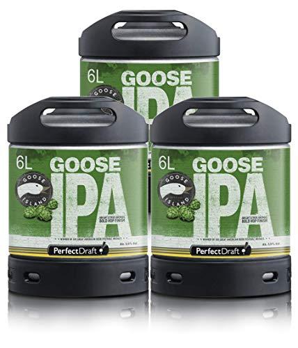 Bier PerfectDraft 3 x 6-Liter Fässer Goose Island IPA Bier - IPA. Zapfanlage für Zuhause. Inklusive 15euros Pfand.