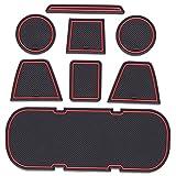 QOMFNG para Toyota 86 para Subaru BRZ GT86 FT86 Scion FR-S 2012~2019, Alfombrilla Antideslizante para Coche, Alfombrilla Antideslizante para Puerta, Accesorios para el Estilo del Coche