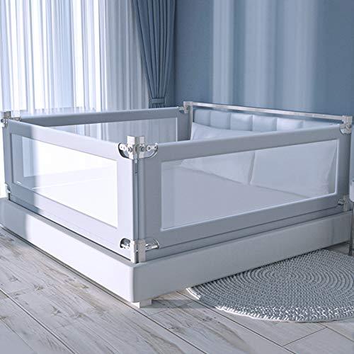 AGIMOLI ベビー ベッド ガード フェンス 赤ちゃん カトージ ポータブル 転落防止 日本語説明書付き (180cm, グレー)