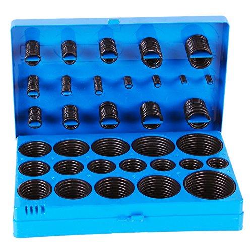 TECPO O-Ring Gummi Dichtung Sortiment, 3-50 mm, 419-teilig, Dichtring Dichtungsringe Dichtungsgummi