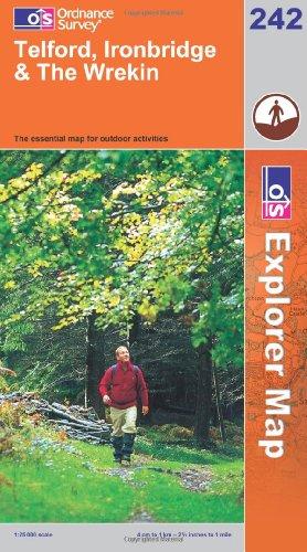 OS Explorer map 242 : Telford, Ironbridge & The Wrekin