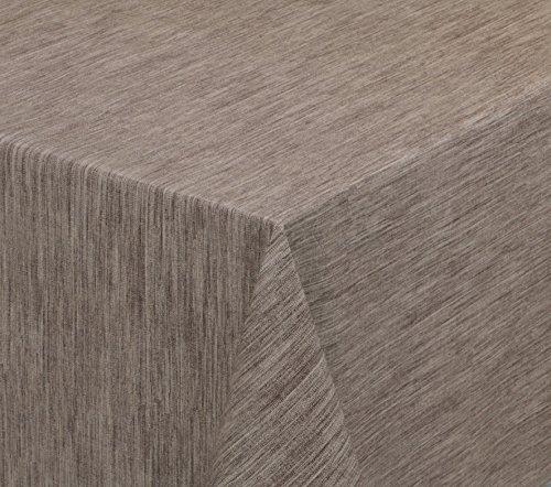 BEAUTEX Wachstuchtischdecke rund oval eckig, Georginias Tischdecke abwischbar LFGB, Farbe und Größe wählbar (Eckig 100x140 cm Braun)