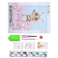 DIYラインストーン絵画、蜂のパターン、子供大人のための、