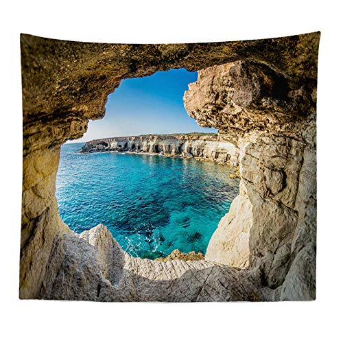 ZYLSZBD Multi-colored Tapestry Wall Hanging,Sea view big tree personality living room-2_180x230cm