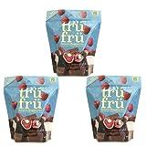 Tru Fru White & Milk Chocolate Covered Raspberries, Freeze-Dried Chocolate Coated Fresh Fruit Frozen (3 Pack)