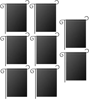 علم حديقة أسود فارغ من GoShell ، طبقة مزدوجة من البوليستر نقل الحرارة المطبوعة ، لافتة موكب حديقة خارجية أعلام ديكور ، 30....