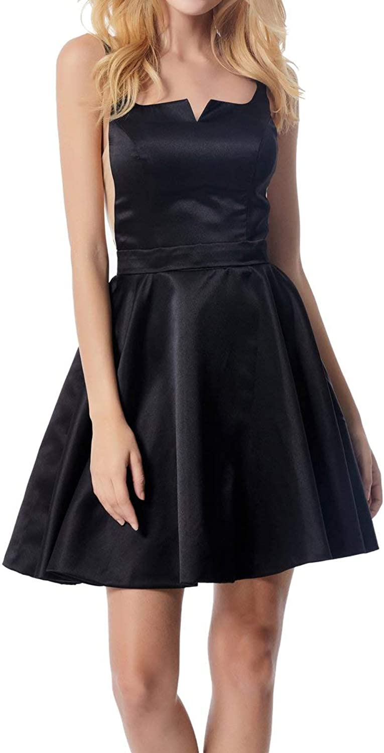 ICCELY Women's VNeck Short Homecoming Dress 2019 Prom Party Cocktail Gowns