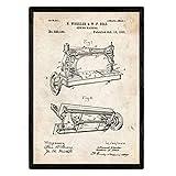 Nacnic Poster Patent Nähmaschine. Blatt mit altem