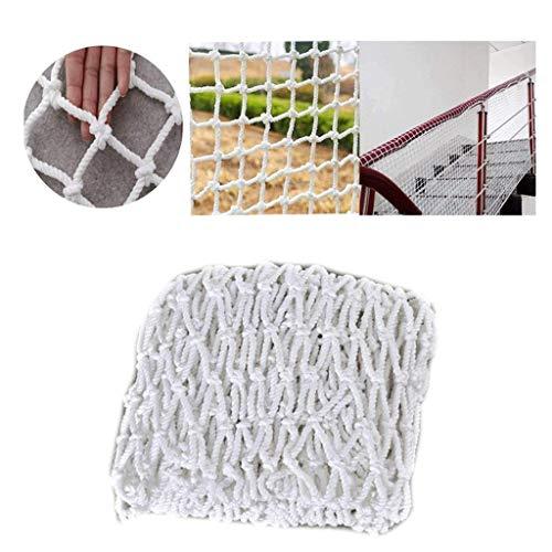 Netz stabiles weißes Seil Schutz Bruchsicherer Seilzaun geeignet für Treppen, Balkon, Hotels, Cafés, Buchhandlungen, Restaurants, Outdoor Sicherheit Schutz, Mesh: 12 cm, 1 * 9m