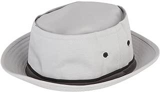 Packable Pork Pie Poplin Ribbon Bucket Hat - Light Grey - Large