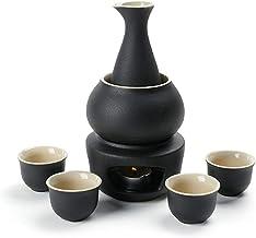 FACAIA Zestaw podgrzewaczy do Sake i filiżanki z ogrzewaczem, tradycyjny porcelanowy japoński zestaw do napojów Hot Saki, ...
