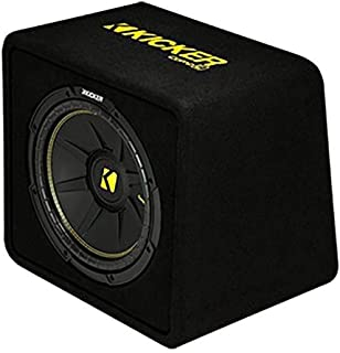 KICKER 44VCWC124 CompC 12 Inch 600 Watt 4 Ohm Compact Vented Loaded Thin Profile Car Audio Subwoofer Enclosure Box with Po... photo