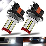 BOODLIED H15 LED Fog Light Bulbs 66-EX 2016 SMD Chips with Lens Projector LED Lamp for Fog Lights or DRL.Xenon White.2-Pack.