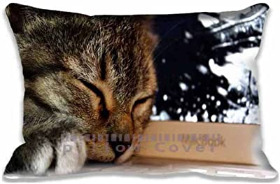 Cat Pillow Cover Digital Printing Pillow Covers 20x30inch (Twin Sides)Home Decorative Family Gift