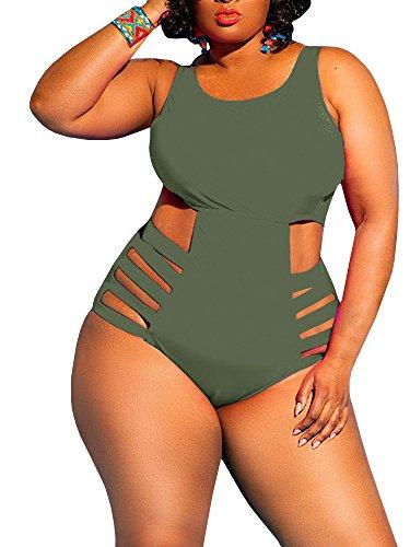 swimsuit for large bust and tummies Yskkt Womens Plus Size Swimwear One Piece High Waist Swimsuits Tummy Control Swim Bathing Suits Monokini