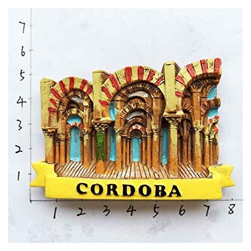 JSJJAWA Imán España Refrigerador Imanes Souvenir Cordoba Barcelona Mallorca Sevilla Cantabria Regalos de Viaje Magnético Frigorífico Pegatinas (Color : Cordoba)