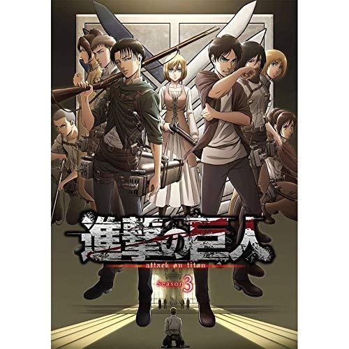 Alcompluser Anime Attack on Titan Poster mural petit format pour décoration murale