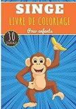 Livre de Coloriage Singe: Pour Enfants Filles & Garçons | Livre Préscolaire 30 Pages et Dessins Uniques à Colorier sur Les Singes, Gorille, Macaque, ... autres Primates | Idéal Activité à la Maison.