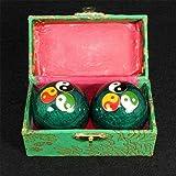 Balón Estrés Salud china azul esferas chinas ejercicio diario Alivio Terapia balonmano masajeador balón con la mano Fuerza aptitud bolas 47mm suelo (Color : Light Green)