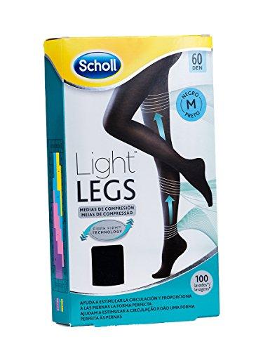 Scholl Medias de Compresión Ligera Mujer Light Legs 60DEN, Color Negro, M