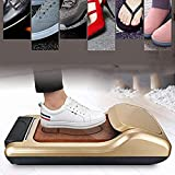 SFSGH Dispensador automático de Fundas para Zapatos, máquina portátil para Fundas para Zapatos, Duradero, Resistente al Agua, Antideslizante, obtenga 1 Rollo de película para Zapatos (Ap