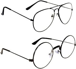 HIPPON Aviator Unisex Sunglasses Combo (Clear)