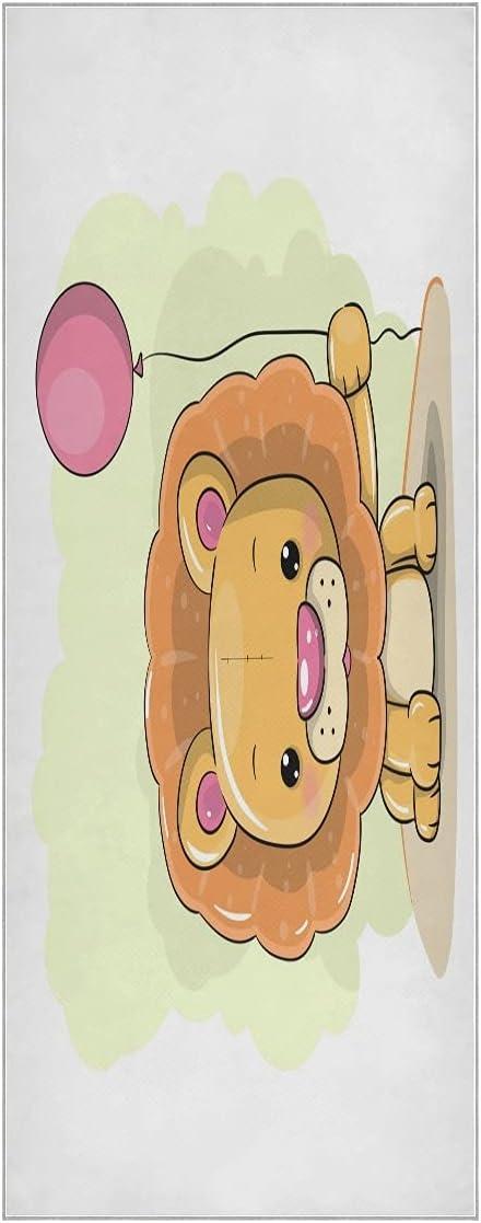 Cheap mail order shopping FVFV Cartoon Lion Balloon Long Beach Mall Yoga Towel Slip Odo Mat Soft Non Super
