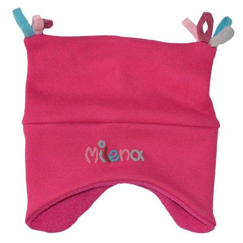 Kuschelmütze Mädchen mit Namen Pink - Personalisierte Mütze für Kinder Winter - Kindermütze Babymütze Babyhaube Wintermütze mit Wunschbeschriftung