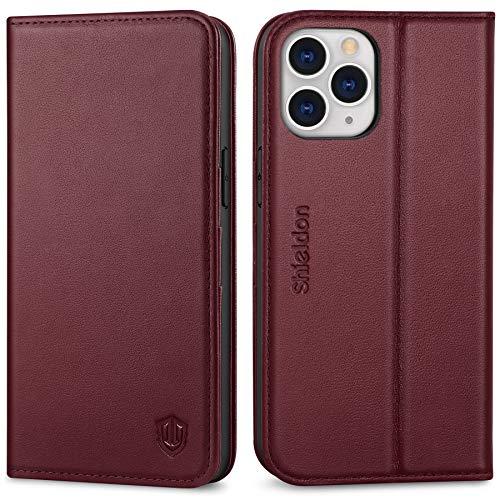 SHIELDON Funda iPhone 12 Pro MAX, Funda de Cuero Genuino con Cáscara...