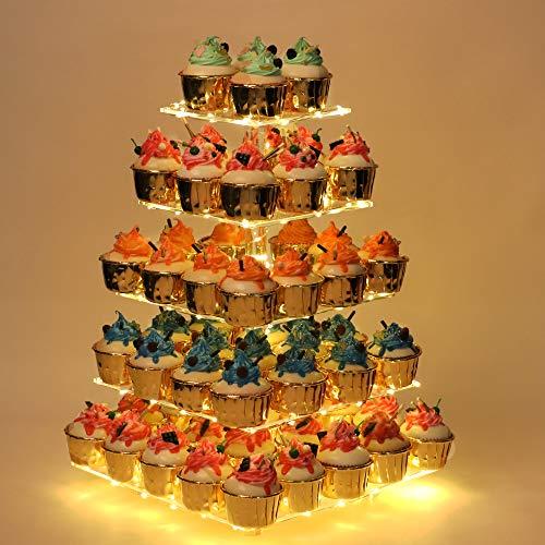YestBuy Cupcake Stand, 5 Tier Premium Cupcake...