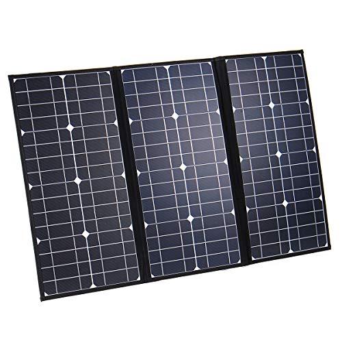 BliliDIY Nb3-80 18V 60W Panel Solar Plegable Panel Solar Monocristalino 5V USB 12V DC Mc4 para Camping/Barco/RV/Viaje/Hogar