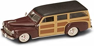 1948 Ford Woody, Burgundy - Yatming 94251 - 1/43 Scale Diecast Model Toy Car