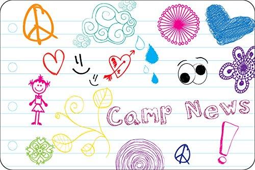 "My Doodles Camp Postcards   Kid Postcards   Camp Stationery   6"" X 4"" Postcards for Kids"